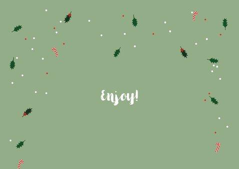 Kerstkaart hilarisch grappige rendieren 2