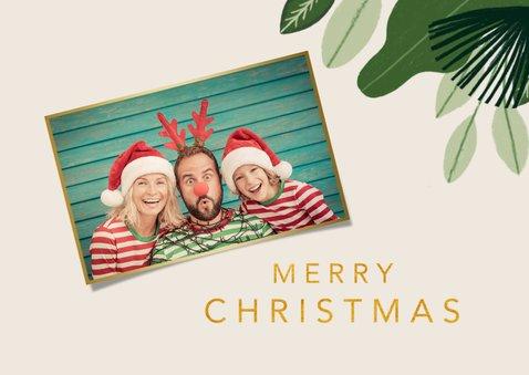 Kerstkaart jungle bells met aapjes 2