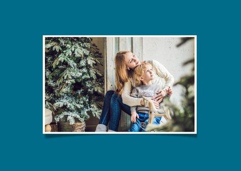 Kerstkaart Kerstballen Blauw 2020 2