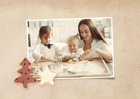 Kerstkaart kerstkoekjes fotocollage 2