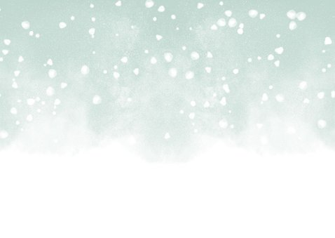Kerstkaart Knuffel met waterverf en sneeuw Achterkant