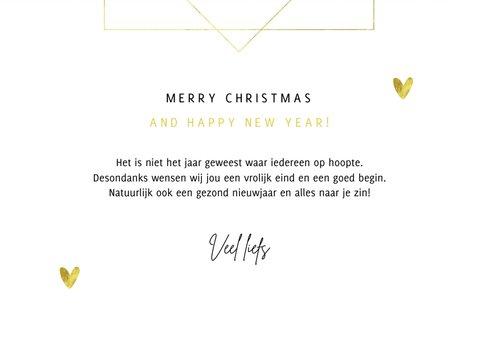 Kerstkaart krijt goud fotokaart hartjes sneeuwvlokken 3