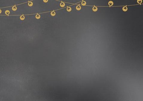 Kerstkaart krijt lampjes Achterkant