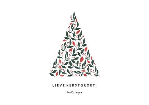 Kerstkaart licht met foto en botanische kerstboom 3