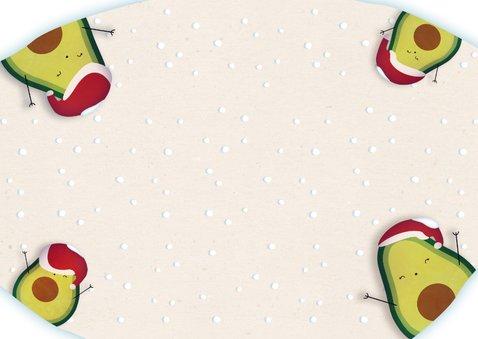 Kerstkaart liggend Holy Guacamole! It's Christmas! Achterkant