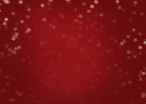 Kerstkaart liggend met gouden kerstboom - Een gouden kerst 2