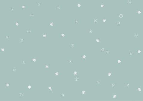 Kerstkaart met 3 klassieke witte fotolijstjes 2