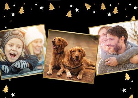 Kerstkaart met foto van huisdier en honden pootafdrukjes  2