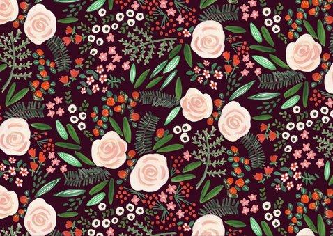 Kerstkaart met mooie bloemen botanisch 2