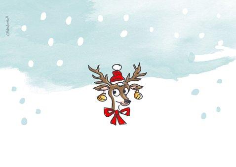 Kerstkaart met rendier gewei met 5 foto's 2