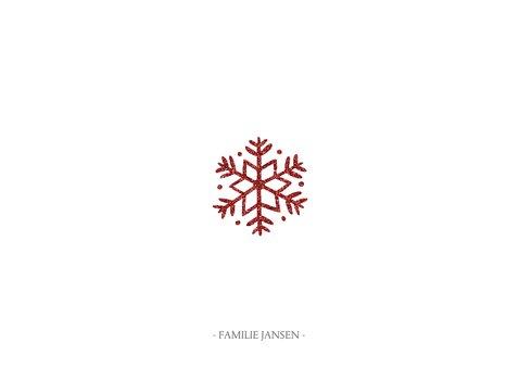 Kerstkaart met sierlijke letters en foto's 3