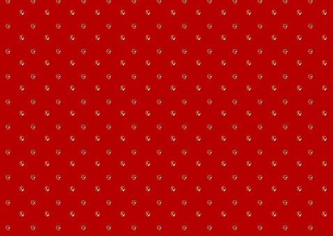 Kerstkaart met trendy rood in glitter strass steentjes 2
