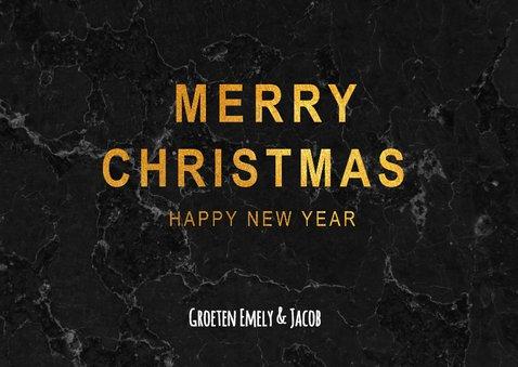 Kerstkaart met zwart marmer 3