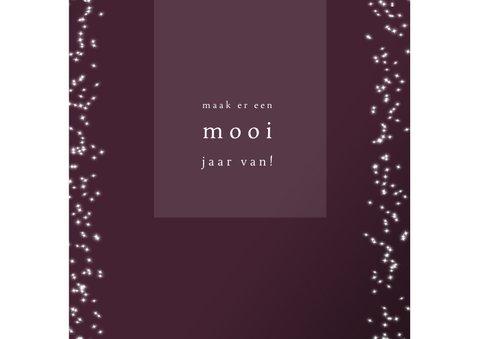 Kerstkaart modern, met foto, sterretjes en tekst in goudlook 3