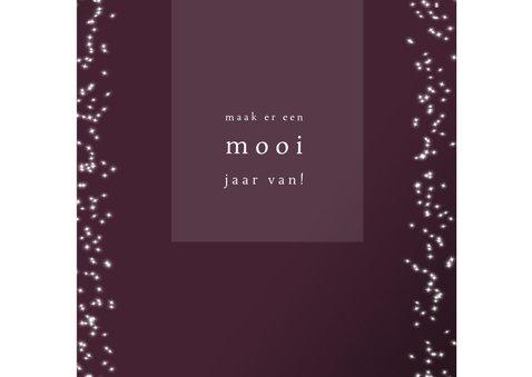 Kerstkaart modern, met foto sterretjes en tekst in goudlook 3