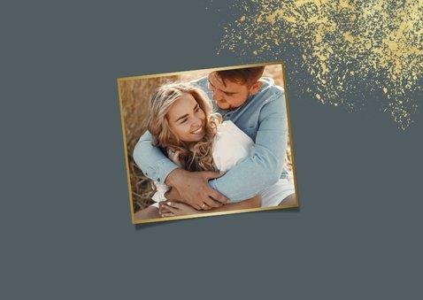Kerstkaart nieuwjaar fijne feestdagen goud foto's 2