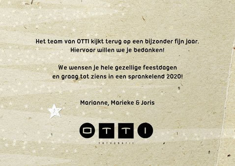 Kerstkaart papers - foto en logo 2020 3