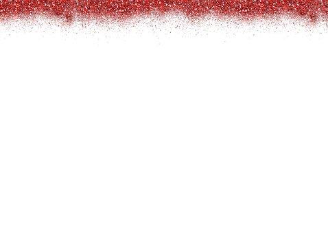 kerstkaart rode glitter rand 2