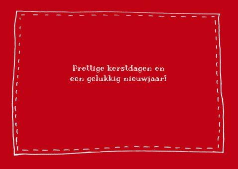 Kerstkaart handlettering foto rood 2