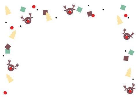 Kerstkaart Rudolf confetti Enjoy 2