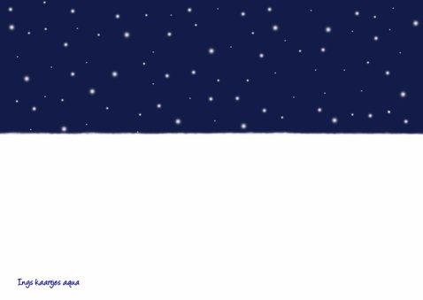 Kerstkaart Schapen in de sneeuw 2