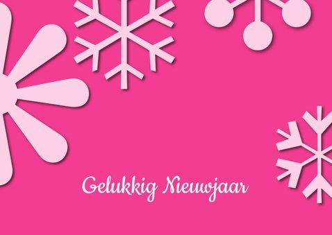 Kerstkaart Schitterende Feestdagen roze 2020 2