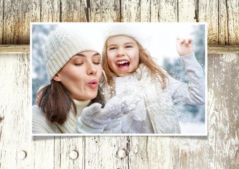 Kerstkaart Steigerhout en roestig ijzer Merry Christmas 2