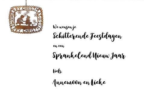 Kerstkaart Steigerhout en roestig ijzer Merry Christmas 3