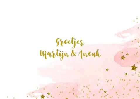 Kerstkaart tekst aquarel glitter 3