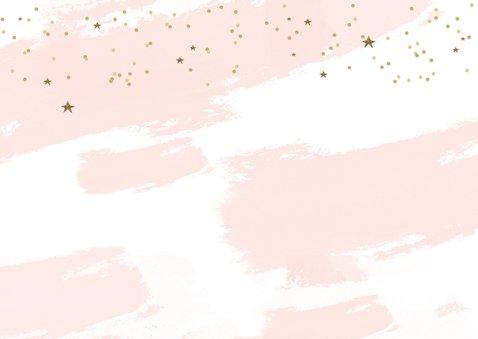 Kerstkaart tekst goudlook confetti sterren 2