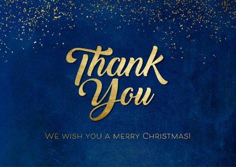 Kerstkaart 'Thank You' goudlook 2