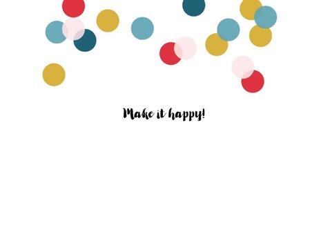 Kerstkaart typografie feestelijk vrolijk confetti 2