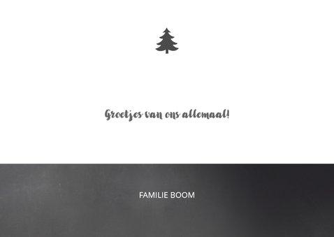 Kerstkaart typografie krijt 3
