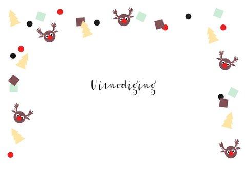 Kerstkaart uitnodiging feestje confetti 2