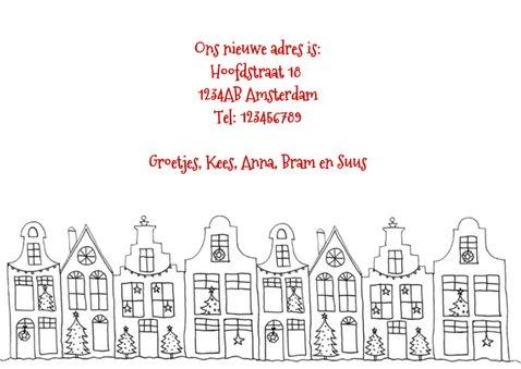 Kerstkaart verhuisd huisjes foto 3