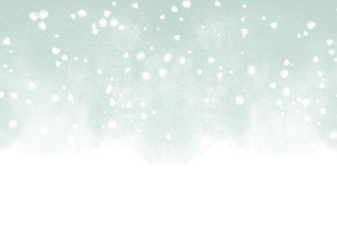 Kerstkaart Warm Wishes met waterverf en sneeuw 2