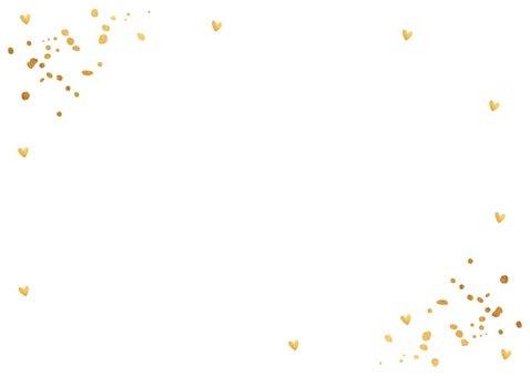 Kerstkaart wit goud confetti fotocollage rechthoek 2