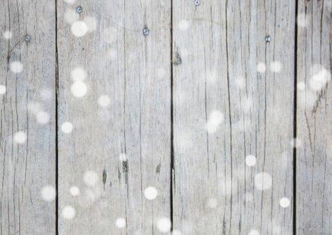 Kerstkaart zakelijk hout sneeuw  2