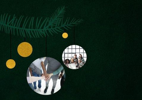 Kerstkaart zakelijk 'Merry and bright' 2