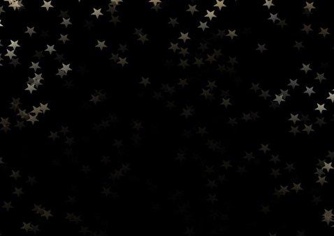 Kerstkaart zwart  en gouden sneeuwvlok - een gouden kerst 2