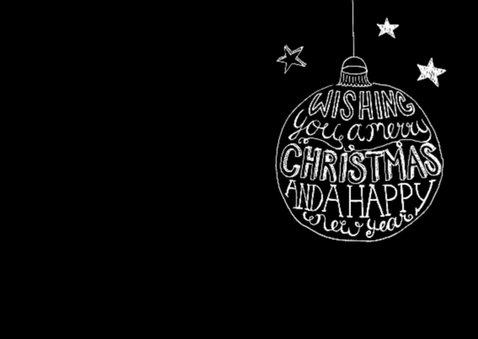 Kerstkaart zwart-wit tekst & foto 2