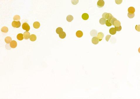 kinderfeestje 1 jaar goud en confetti gekleurd 2