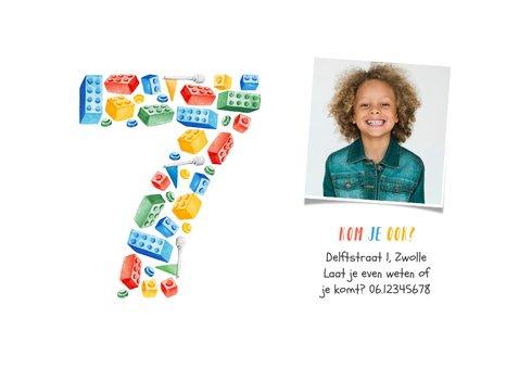 Kinderfeestje 7 jaar lego party vrolijk kleurrijk foto 2