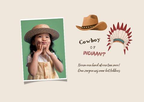 Kinderfeestje cowboys indianen foto wegwijzers hout 2