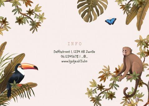 Kinderfeestje jungle dieren tropisch meisje foto 2