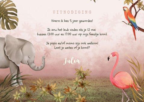 Kinderfeestje jungle dieren tropisch meisje foto 3