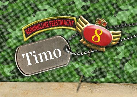 Kinderfeestje leger camouflage foto feest 2