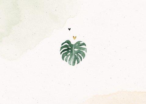 Kinderfeestje luipaard jungle meisje palmbomen foto hartjes Achterkant