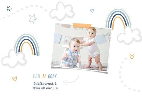 Kinderfeestje tweeling wolken regenboogjes sterren hartjes 2