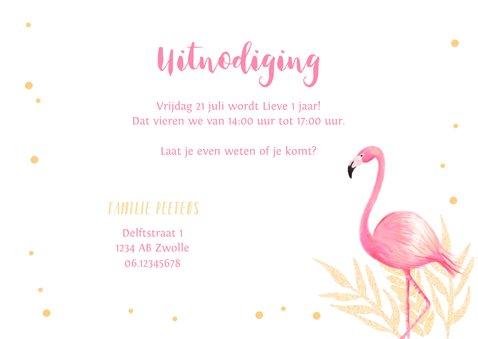 Kinderfeestje uitnodiging flamingo met eigen foto 3